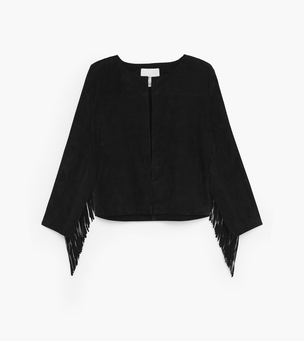 Mango_fringed-sued-jacket_black